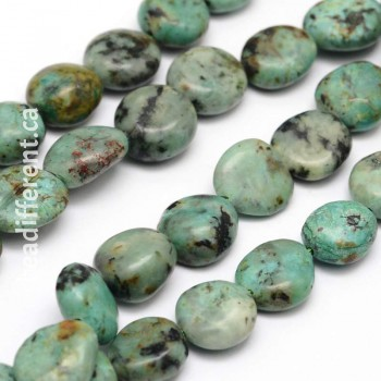 African Turquoise Nugget Beads