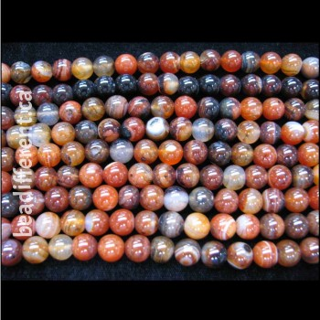 Natural Agate Round Beads