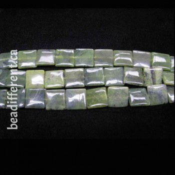 BC Jade Square 18mm Beads