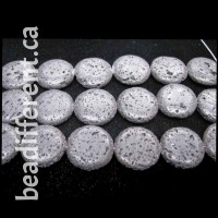 Lava Puff Coin 30mm Beads