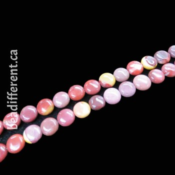 Mookaite Coin 10mm Beads
