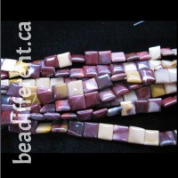 Mookaite Square 10mm Beads