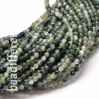 Moss Agate Round Beads