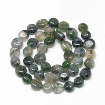 Moss Agate Nugget Beads
