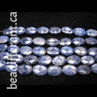 Sodalite Faceted Oval Beads
