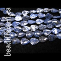 Sodalite Faceted Drop Beads
