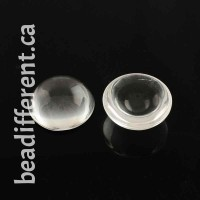 Clear Glass Cabochon 15x7mm