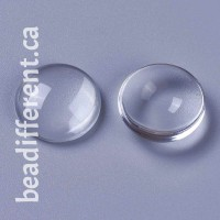 Clear Glass Cabochon 16x4mm