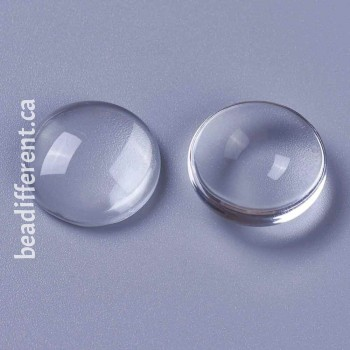 Clear Glass Cabochon 20x8.5mm