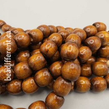 Brown 16x16mm Barrel Bead