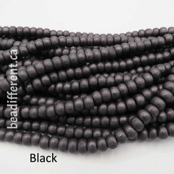 9mm Wood Crow Beads