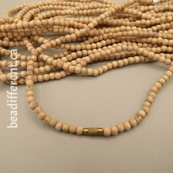 Tulsi Wood 4mm Necklace
