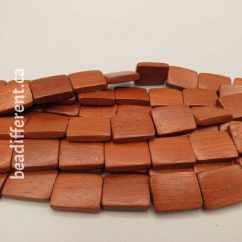 Wood Rectangle 20x15mm Beads