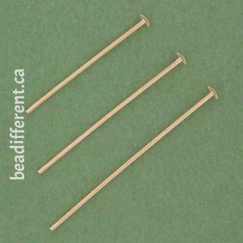 "2"" Headpin 24 Gauge Nickel Silver"