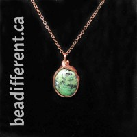 New Mexico Green Turquoise Wire Wrapped Necklace