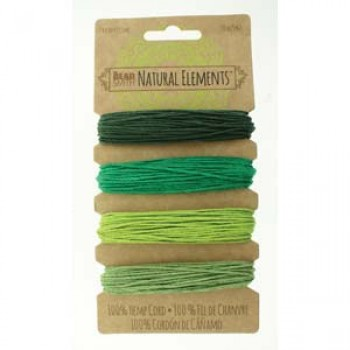 20# Hemp 4 Color Card Set Emeralds